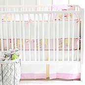 Out to Sea Pink 3 Piece Crib Bedding Set