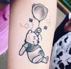 Winnie the Pooh tattoo Tiny Wrist Tattoos, Cute Finger Tattoos, Cute Tiny Tattoos, Cool Small Tattoos, Different Tattoos, Pretty Tattoos, Tattoos For Women Small, Foot Tattoos, Tatoos
