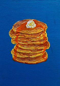 Grandpa's Panny Cakes ORIGINAL ACRYLIC PAINTING 5 by MikeKrausArt