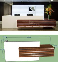 2 person reception c Office Counter Design, Reception Counter Design, Office Reception Design, Modern Reception Desk, Office Table Design, Modern Office Design, Office Furniture Design, Modern Offices, Hotel Room Design