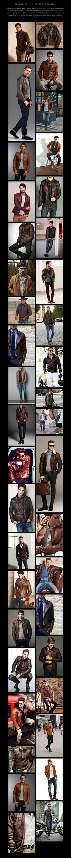 BROWN LEATHER JACKET INSPIRATION