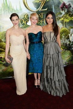 Best Dressed at the Oz the Great and Powerful Premieres: Will Michelle Williams, Rachel Weisz, or Mila Kunis Get Your Vote?