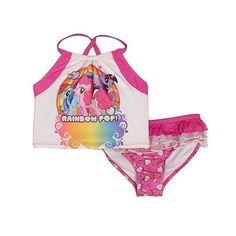 NWT Girls My Little Pony Tankini Swim Top & Ruffle Bottoms - Size Small (6/6X) #MyLittlePony #TankiniSwimTopRuffleBottoms