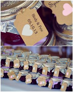 Wedding favors - jam made by the couple  Shannon Karmel Photography