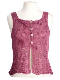 """Add this project to your Ravelry favorites HERE.  To print or convert to PDF click the green """"Print Friendly"""" button below the pattern.     Elisa Sleeveless Top designed by Kim Guzman © Feb. 2013  Email to kim@crochetkim.com  Please read my Terms of Use  Techniq"""