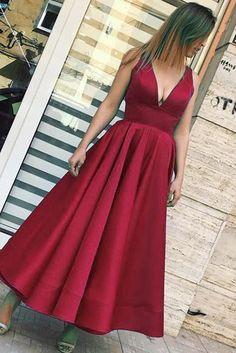 A-line V Neck Ankle Length Formal Occasion Dress,A-line Long Prom Dresses,Long Evening Dresses Formal Dress Shops, Formal Dresses, Wedding Dresses, V Neck Prom Dresses, Evening Dresses, Ankle Length, Red Carpet, Your Style, Party Dress