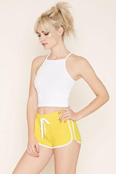 Contrast-Trim Dolphin Shorts