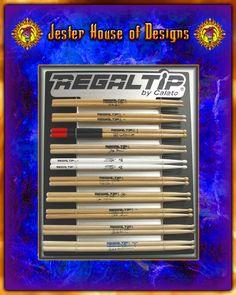 Regal Tip Custom Drumstick wall Display