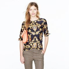 Collection golden paisley blouse. It was inspired by a vintage scarf!