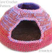 Cat Cave Crochet Pattern - via @Craftsy