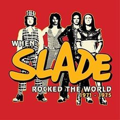 Title: When Slade Rocked the World Collectors Box. In Like a Shot from My Gun (Slade Alive! Know Who You Are (Slade Alive! Keep on Rocking (Slade Alive! Get Down with It (Slade Alive! Slade Band, Noddy Holder, Vinyl Records For Sale, Vinyl Cd, Music Album Covers, Glam Rock, Attractive Men, Rock N Roll, The Outsiders