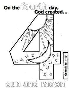 look to him and be radiant creation numbers - Pictures To Colour For Toddlers