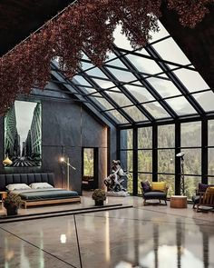 Dream House Interior, Luxury Homes Dream Houses, Dream Home Design, Modern House Design, Modern Interior Design, Room Interior, Amazing Architecture, Home Architecture Design, House Styles