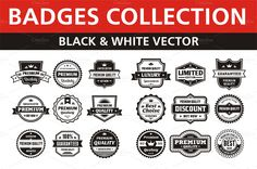 Badges Collection by serkorkin on Creative Market