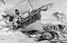 10. These journeys were not easy as this image shows the struggle and perhaps even death of an ill fated exploration to the Franklin islands