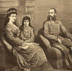 Franz Josef and Elisabeth with Marie Valerie