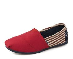 New Arrival Toms women shoes Red flag