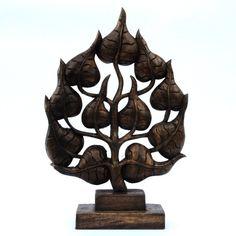 Blatt Bai Po Buddha Thailand Holz braun dunkel 46cm
