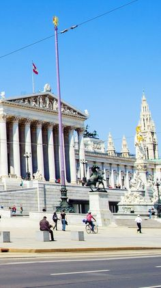 Austrian Parliament Building, Vienna, Austria | Amazing Photography Of Cities and Famous Landmarks From Around The World Salzburg, Innsbruck, Travel Around The World, Around The Worlds, Famous Landmarks, World View, Vienna Austria, Central Europe, Countries Of The World