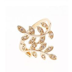 Ambre & Louise Gold and Crystal Ring ($161) ❤ liked on Polyvore featuring jewelry, rings, golden, crystal stone rings, crystal jewellery, pave jewelry, golden ring and gold jewellery