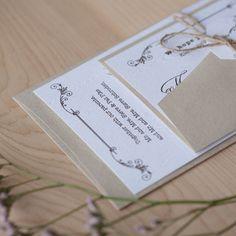 Rustic Vintage Wedding Invitation Rustic by JenSimpsonDesign, $4.50