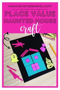 Halloween haunted house math craft. Hands-on math activity for fall and halloween in the 2nd, 3rd, and 4th grade classroom. Great place value review for the fall season! Students will build a place value haunted house by reviewing base-ten and find the value of their halloween house with this engaging math craft! Halloween Haunted Houses, Halloween House, Halloween Fun, Math Crafts, Fun Math Activities, Primary Resources, Place Values, Center Ideas, Math Centers