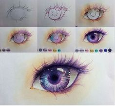 Eye drawing by ig @minmonsta