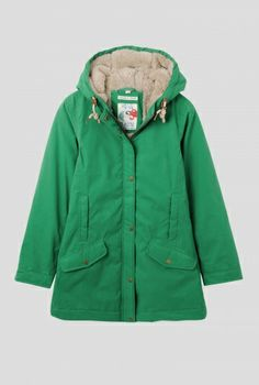Snowdrop Coat   Soft waterproof fabric to keep you dry and a cosy fleece lining to keep you warm. Falling mid-thigh, in a classic style, with quilting, front pockets with double openings, back vents, double zip front with popper placket and fleece lined hood with rope drawstring. Perfect for trips out and about on colder days.