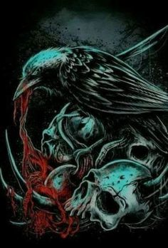 trendy ideas for drawing flowers skull Dark Fantasy Art, Dark Art, Grim Reaper Art, Beautiful Tumblr, Neck Bones, Raven Art, Raven Tattoo, Skull Wallpaper, Flower Skull