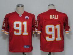 For Sale NFL Jerseys Kansas City Chiefs 91 HALI Red