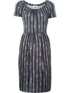 A neat semi-fitted shape with a lovely neckline Shop Max Mara rope print  dress