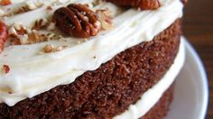 A simple, moist, yummy carrot cake with cream cheese frosting.