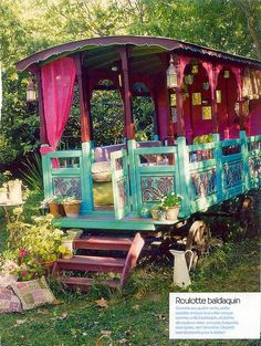 Caravan Canopy- An interesting alternative to a gazebo. Looks like a fun outdoor reading spot for the kids.