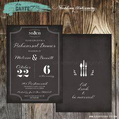 Label Style Chalkboard Inspired Wedding by alacartestudio on Etsy, $15.00