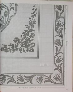 "Photo from album ""Ondori"" on Yandex. Filet Crochet Charts, Crochet Doily Patterns, Crochet Borders, Crochet Doilies, Embroidery Patterns, Butterfly Cross Stitch, Cross Stitch Borders, Cross Stitch Designs, Cross Stitch Patterns"