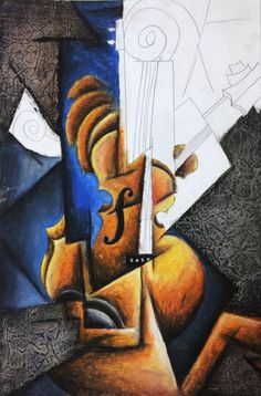 Cubism music instrument lesson plan Cubism Instrument Oil Pastel and Collage Art Lesson. Create an original composition of instruments in the Cubism style using abstraction techniques and Cubism characteristics. High School Art, Middle School Art, Collage Art, Collages, Arte Elemental, Cubist Art, School Art Projects, Pastel Art, Art Lesson Plans