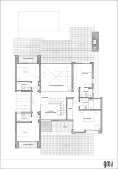 Imagem 14 de 16 da galeria de Casa CKN / Giugliani Montero Arquitetos. Planta 2