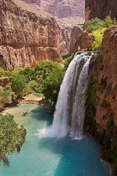 Havasupai, Arizona. #grandcanyon #waterfall