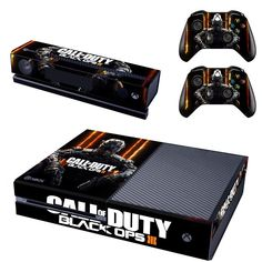 Call of Duty Black OPS 3 Designer Skin Sticker for the Xbox One Console With Two Wireless Controller Decals Xbox One Skin, Consoles, Microsoft, Xbox Controller, Xbox One Console, Black Ops 3, Call Of Duty Black, Xbox One Games, Xbox Live