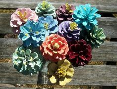 """Painted Pine Cone """"Flowers."""" www.etsy.com/shop/NaturesCraftSupply"""