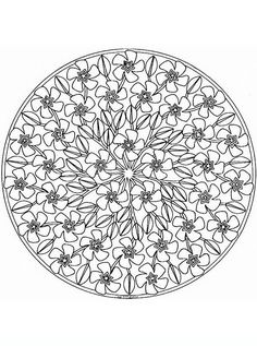 mandala_43 adult coloring pages