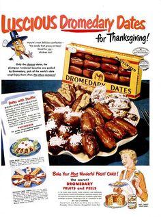 vintage thanksgiving ads   Vintage Thanksgiving Advertisements (Dromedary Dates, 1950)