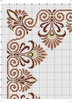 This Pin was discovered by Nat Baby Cross Stitch Patterns, Cross Stitch Borders, Cross Stitch Flowers, Cross Stitch Designs, Cross Stitching, Cross Stitch Embroidery, Embroidery Patterns, Quilt Patterns, Celtic Cross Stitch