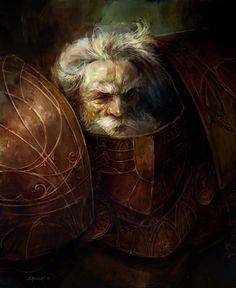 Defender of the faith - Disciples II fan art by SvetoslavPetrov Fantasy Dwarf, Fantasy Warrior, Fantasy Rpg, Medieval Fantasy, Dark Fantasy, Warhammer Fantasy, Warhammer 40k, Fantasy Portraits, Character Portraits
