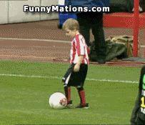 Funny Pic of kid kicking #football