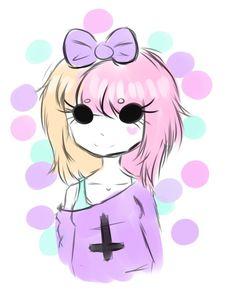 Znalezione obrazy dla zapytania pastel goth anime