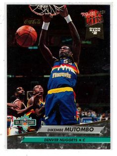 Sports Cards Basketball - 1992-93 Fleer Ultra (Dunk Rank #2) Dikembe Mutombo