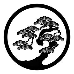 Japanese Pine tree embroidery design at DuckDuckGo Japanese Lotus, Japanese Art, Japanese Patterns, Japanese Design, Tattoo Museum, Japanese Family Crest, Stencils, Japanese Drawings, Art Asiatique