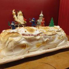 Bûche de Noël au citron meringuée