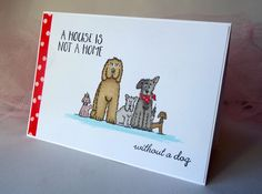 "Lindsay Mason for Personal Impressions Dogs 3 set, Simply Cards & Papercraft ""Furry Friends"" Sentiments.    Entry for Freshly Made Sketches Challenge #234 - Perfect Princess 03/05/2016"